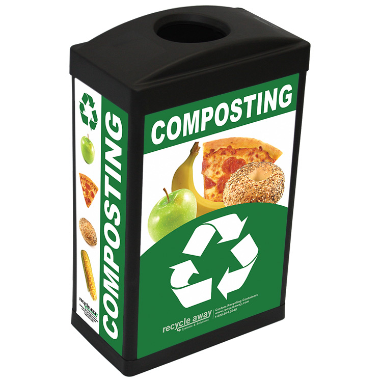 ergocan plastic composting container recycle away